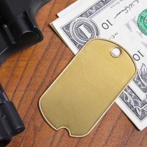 ドッグタグプレート 真鍮 切り欠き ドックタグ 認識票 アクセサリー DOG TAG メンズアクセサリー ドッグタグパーツ 識別票 Dog Tag|repmartjp