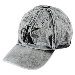 メンズ/ レディース カルバンクライン デニム キャップ 帽子 ベースボール ロゴキャップ スナップバックキャップ CK ウォッシュ加工 グレー Calvin Klein BASEB republic
