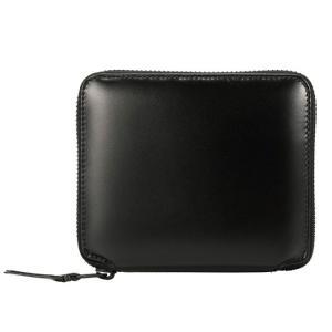 コムデギャルソン ジップ ウォレット 財布 ブラック 二つ折り財布 COMME des GARCONS SA2100VB Zipped Wallet Black/Black VERY BLACK LINE republic