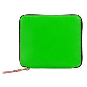 コムデギャルソン ジップ ウォレット 財布 グリーン ブルー レッド 蛍光色 二つ折り財布 COMME des GARCONS SA2100SF Super Fluo Zip Wallet republic