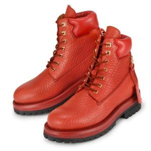 ブシェミ サイト ブーツ 靴 BUSCEMI Site Boot 1002F16-RED メンズ レッド 赤 レザー|republic