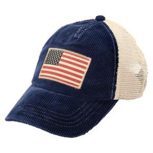 POLO by Ralph Lauren Corduroy Flag Trucker Cap ポロ・ラルフローレン コーデュロイ フラッグ キャップ メッシュ 帽子 ブルー republic