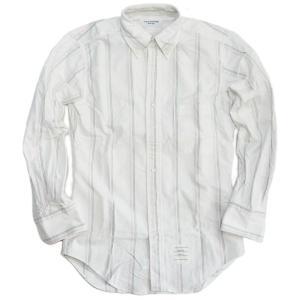 メンズ2012AW  THOM BROWNE. NEW YORK トムブラウン ボタンダウンシャツ ホワイト ストライプ republic