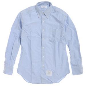 B852013SS青山店オープン記念限定トムブラウン オックスフォードシャツ  / THOM BROWNE CLASSIC SHIRT IN BLUE OXFORD PAUL REVERE POEM size4 republic