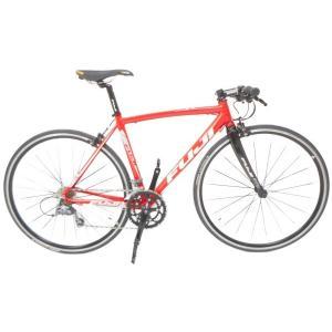 【中古】Fuji フジ ROUBAIX AURA フラットバーロードバイク 49cm 2×8 RED レッド H3667743|rere-store