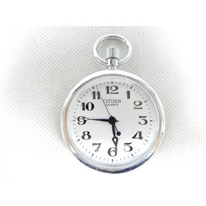【中古】 中古 CITIZEN QUARTZ JR 西日本 ID 大支 1224 時計 懐中時計  K3092419|rere-store