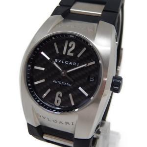 【中古】 BVLGARI ブルガリ エルゴン EG35BSVD 自動巻き ラバー メンズ 腕時計  Y4930140|rere-store