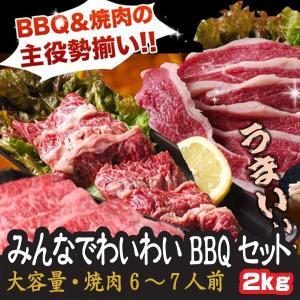 肉 大容量 みんなでわいわい 焼肉セット 6人前〜7人前 計2キロ ギフト 焼肉 送料無料