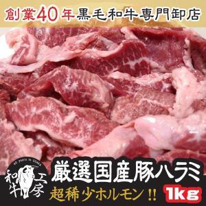 焼肉 御中元 新鮮 国産豚 ハラミ サイコロステーキ 500g×2パック 計 1kg 味付けなし た...