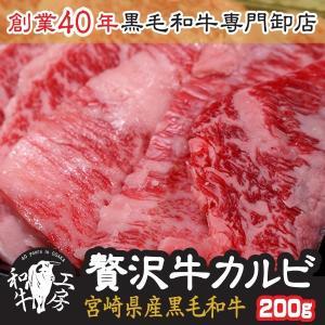 個数限定! 宮崎県産黒毛和牛A4・A5ランク限定! お試し贅沢カルビ(ともバラ)200g 味付けなし
