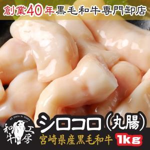 お中元 2021 ギフト 肉 鍋 宮崎県産 黒毛和牛 丸腸 200g×5パック 計1kg シロコロ ...