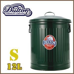 ごみ箱 ダルトン  オシャレ アメリカン dulton  ガベージカン ふた付き スチール缶 12リットル  グリーン|reroom