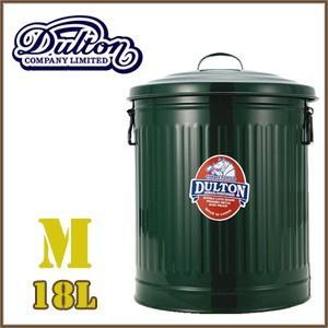ダルトン ゴミ箱 18リットル ガベージカン オシャレ アメリカン 大きい ふた付き スチール缶 dulton グリーン(REROOM)|reroom