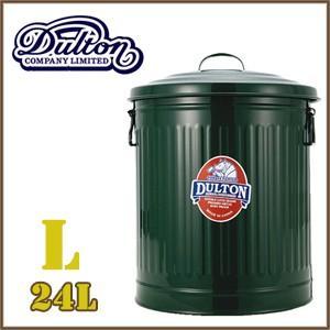 ダルトン ゴミ箱 24リットル ガベージカン オシャレ アメリカン 大きい ふた付き スチール缶 dulton グリーン(REROOM)|reroom