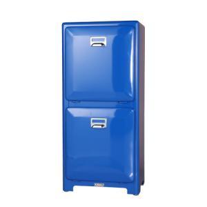 ダルトン ゴミ箱 スチール製 トラッシュ ごみ箱 2段タイプ インナーボックス付き ブルー(REROOM)|reroom