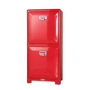 ダルトン ゴミ箱 スチール製 トラッシュ ごみ箱 2段タイプ インナーボックス付き レッド(REROOM)|reroom