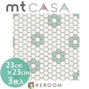 マスキングテープ カモイ mt (230×230)角 人気 おしゃれ 壁用 おしゃれテープ 人気 タイル・六角形 MT03WS2303(3枚入り)(REROOM)|reroom