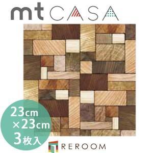 マスキングテープ カモイ mt (230×230)角 人気 おしゃれ 壁用 おしゃれテープ 人気 木の断面 MT03WS2305(3枚入り)(REROOM)|reroom