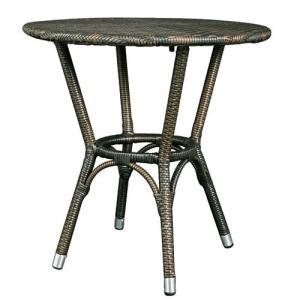 ダルトン DULTON  テーブル おしゃれ 屋外にもおすすめ オープンカフェ 軽量 WEAVING TABLE BROWN OS101854BR(REROOM)|reroom