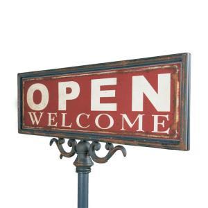 ダルトン おしゃれ お店用 オープン スタンド S355-83 サインスタンド アンティークな風合いのショップスタンド(REROOM)|reroom|02