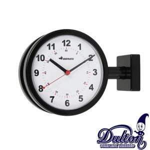 ダルトン ダブルフェイス ウォールクロック S624-659BK ブラック 壁掛け時計 おしゃれ カワイイ レトロ 両面式タイプ(REROOM)|reroom