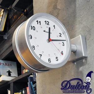 ダルトン ダブルフェイス ウォールクロック S624-659SV シルバー 壁掛け時計 おしゃれ カワイイ レトロ 両面式タイプ(REROOM)|reroom