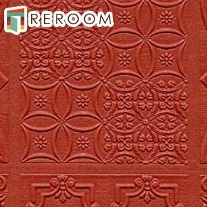 壁紙 のり付き 赤 トキワ TWP-2185   クラシック もとの壁紙の上から貼れます。下敷きテープ付き 貼りやすく簡単 DIY (REROOM)|reroom