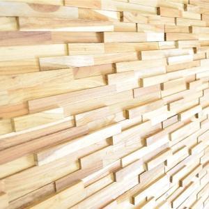 ウッドパネル 壁 ウォールパネル 無垢材 天然木 アクセント パネル 粘着テープ付 貼り付けるだけ reroom 03