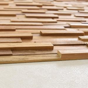 ウッドパネル 壁 ウォールパネル 無垢材 天然木 アクセント パネル 粘着テープ付 貼り付けるだけ reroom 04