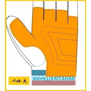 消防業務・救助大会用 牛革手袋【R1】朱・グレー RESCUE(R)kitahara|rescue-kitahara|02