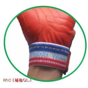 消防業務・救助大会用 牛革手袋【R1】朱・グレー RESCUE(R)kitahara|rescue-kitahara|03