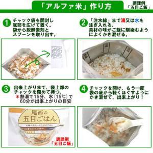 アルファ米 白飯 10食まとめ買い 尾西食品の詳細画像1