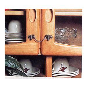 木ねじで食器棚などの扉に取り付けるだけで、丈夫なクサリが揺れによる扉の開放を防止します。避難時、散乱...
