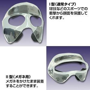 透明マスク(スポーツ用顔面保護マスク)ハーフタイプ rescuenet