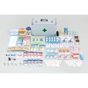 大規模な災害時に役立つ、多人数にも対応した救急用具のセットです。約50人分の手当てにも対応できるセッ...