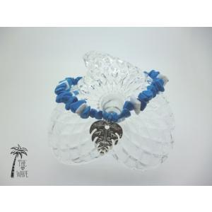 ターコイズとモンステラのブレスレット - Hawaiian jewelry|resortiara