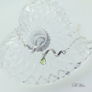 Teardrop peridot - silver-|resortiara