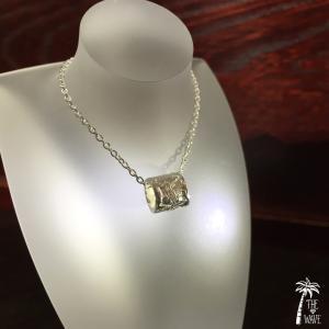 Hawaiian Jewelry プルメリアSILVERバレルのネックレス|resortiara