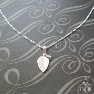 朝露 - silver leaf のネックレス -|resortiara