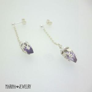 chandelier amethyst - silver - resortiara