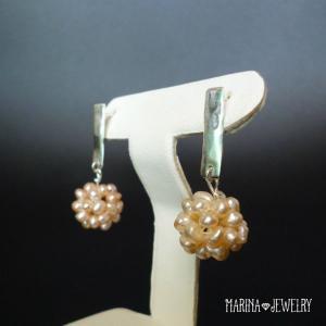 hammered SILVER - pearl resortiara
