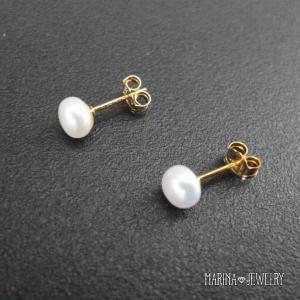 真珠のピアス - stud silver - resortiara