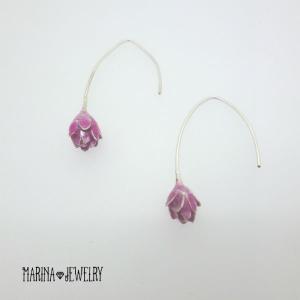 Lotus 蓮の花のピアス - silver - resortiara