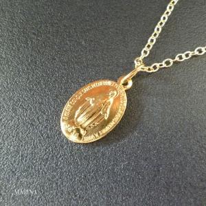 フランス奇跡のメダイのネックレス - gold chain|resortiara