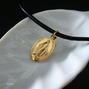 フランス奇跡のメダイのネックレス - gold|resortiara