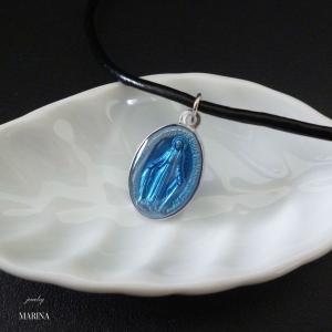 フランス奇跡のメダイのネックレス - blue|resortiara