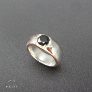 ZEBRA - ring black resortiara