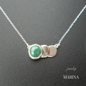 ZEBRA - necklace malachite resortiara