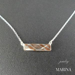 ZEBRA - necklace plate resortiara
