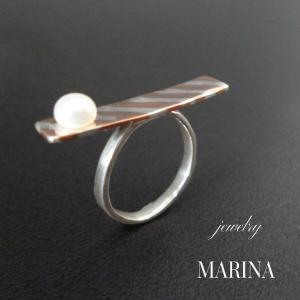 ZEBRA ring - 真珠 resortiara